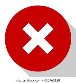 cancel  icon, delete button