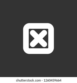 cancel icon vector. cancel sign on black background. cancel icon for web and app