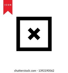 cancel icon, cancel vector, sign symbol. - Vector