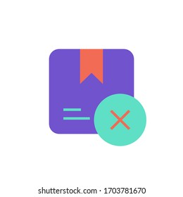 cancel order icon flat design vector illustration. isolated on white background