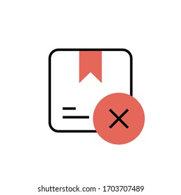 cancel order icon modern design  vector illustration. isolated on white background