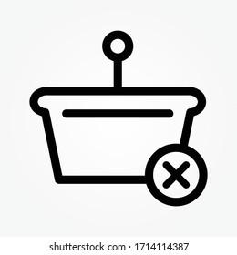 cancel order shopping icon vector illustration