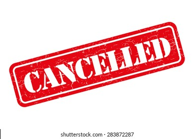 Cancelled grunge retro isolated stamp