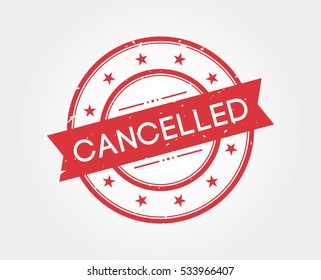 cancelled. stamp sign