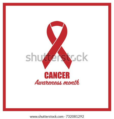 cancer awareness month campaign poster ribbon stock vector royalty