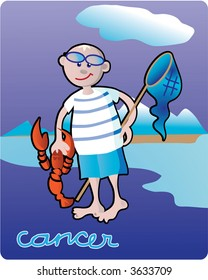 Cancer - collection of 12 children horoscopes and characters