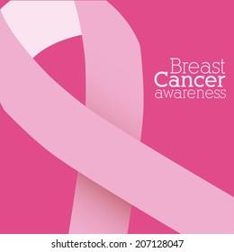 Cancer design over pink background, vector illustration