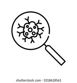 Cancer icon, vector illustration