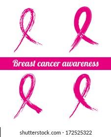 cancer over pink background vector illustration