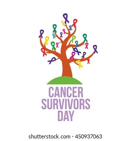Cancer Survivor Day Campaign Awareness. Vector Illustration
