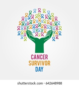Cancer Survivor Day Vector Illustration. Suitable for poster, banner, campaign, and greeting card.