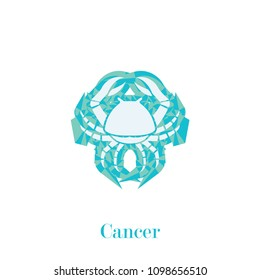 cancer zodiac sign geometric