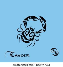 Cancer Zodiac Sign Tattoo art