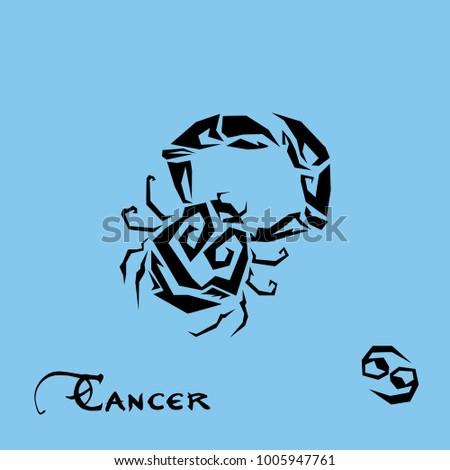 Art sign Cancer zodiac
