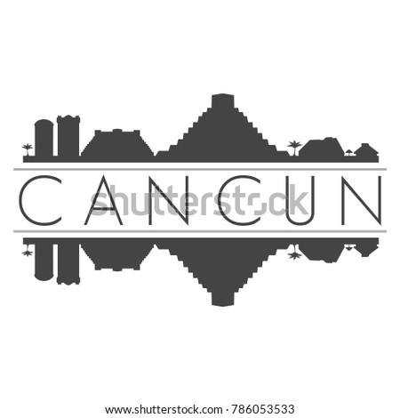 Cancun Mexico America Skyline Vector Art Stock Vector Royalty Free