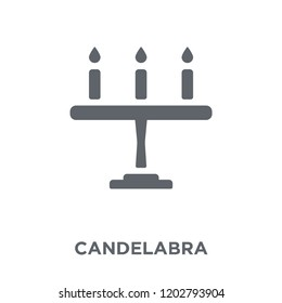 Candelabra icon. Candelabra design concept from Wedding and love collection. Simple element vector illustration on white background.