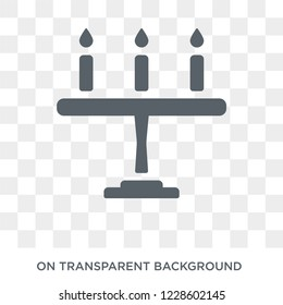 Candelabra icon. Candelabra design concept from Wedding and love collection. Simple element vector illustration on transparent background.