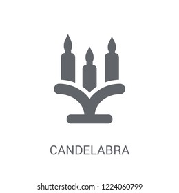 Candelabra icon. Trendy Candelabra logo concept on white background from Birthday party and wedding collection. Suitable for use on web apps, mobile apps and print media.