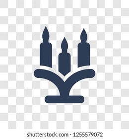 Candelabra icon. Trendy Candelabra logo concept on transparent background from Birthday party and wedding collection