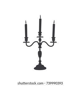 Candelabra icon, vector illustration design. Halloween collection.