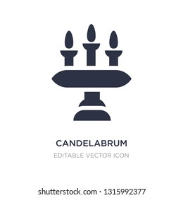 candelabrum icon on white background. Simple element illustration from Furniture and household concept. candelabrum icon symbol design.