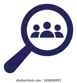 Candidate, find employee Vector Icon which can easily modify or edit