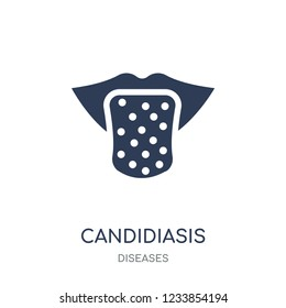Candidiasis icon. Candidiasis filled symbol design from Diseases collection. Simple element vector illustration on white background