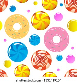 Candies.  Seamless pattern. Vector image.