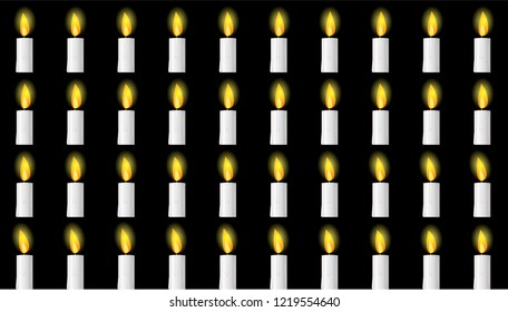 Candle animation sprite sheet, Can be used for GIF Animation