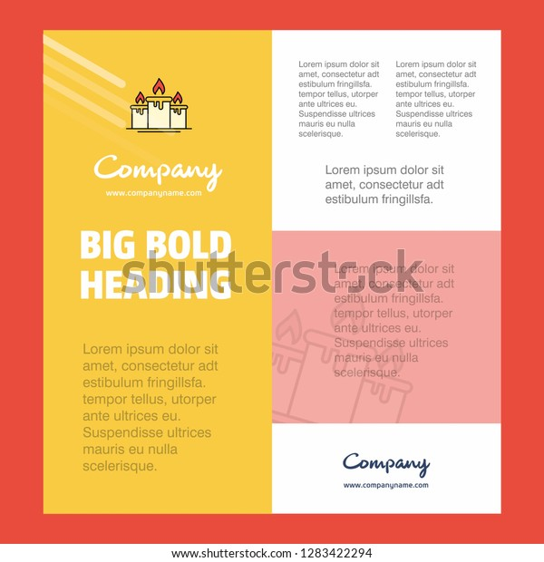 Candle Business Company Poster Template. with place for text and images. vector background