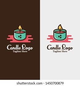 Candle Candles Logo Design illustration