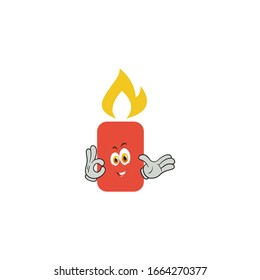 candle cartoon characters design with expression. you can use for stickers, pins, mascot or patches