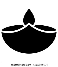 Candle, easter flame Isolated Vector icon which can easily modify or edit