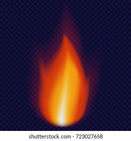 Candle flame concept background. Realistic illustration of candle flame vector concept background for web design