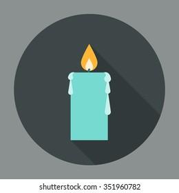 Candle Icon Flat