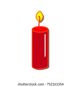 candle icon flat color