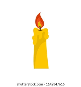 Candle icon. Flat illustration of candle vector icon for web isolated on white