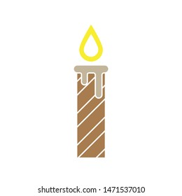 candle icon. flat illustration of candle - vector icon. candle sign symbol