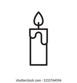 candle icon in trendy flat style