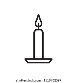 Candle icon in trendy outline style design. Vector graphic illustration. Suitable for website design, logo, app, and ui. Editable vector stroke. EPS 10.