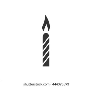 Candle icon. Candle vector illustration. Birthday candle.