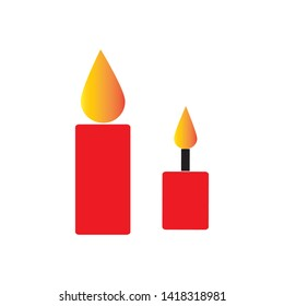 candle icon vector illustration template