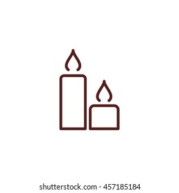 candle line icon