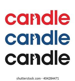 candle logo vector.
