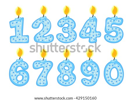 Candle Number Set Illustration Of Birthday Candles On A White Background Numerals