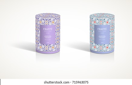 Candle Round container 3D packaging design illustration