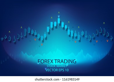 candle stick and graph chart of stock market. business and financial concept, Vector