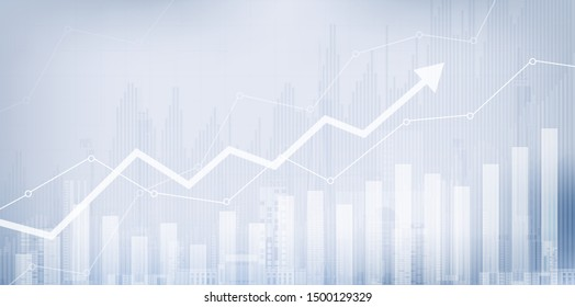 Candle stick graph chart of stock market investment trading, Bullish point, Bearish point. trend of graph vector design.