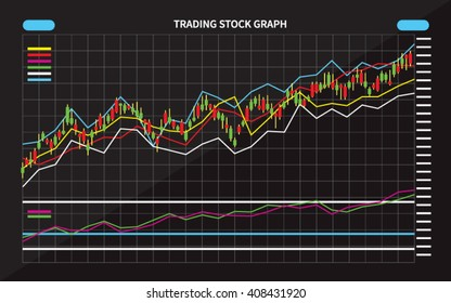 Candle Stick Graph, Stock Market Investment Trading