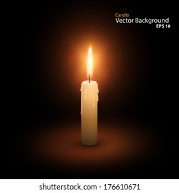Candle Vector Vector Background